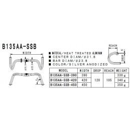 NITTO Cintre B135AA SSB 31.8
