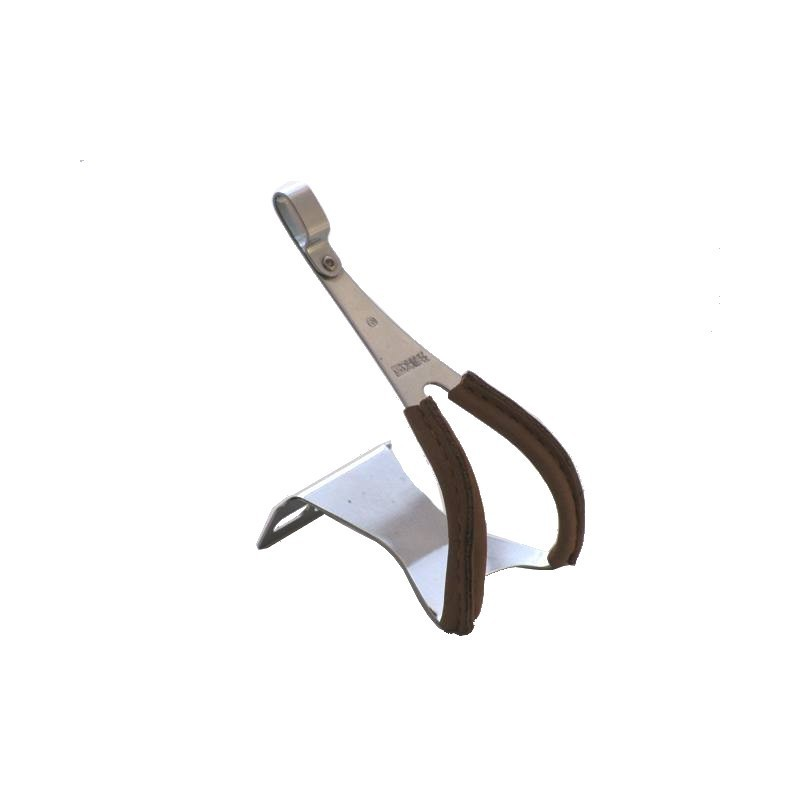 MKS Toe-clips Steel Leather